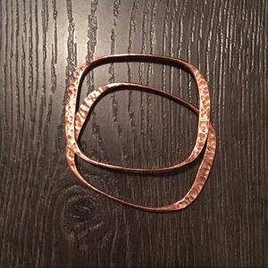Jewelry - Two copper stacking bangles